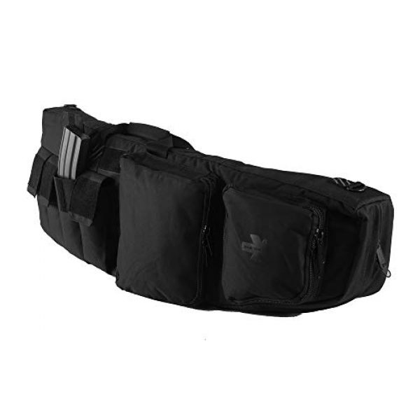 K-Cliffs Tactical Backpack 3 Tactical Rifle Backpack Gun Storage Case Double Long Rifles Carrying Bag   Lockable Zippers   Water Resistance Black