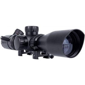 Monstrum Rifle Scope 1 Monstrum 2-7x32 Rifle Scope with Rangefinder Reticle and High Profile Scope Rings