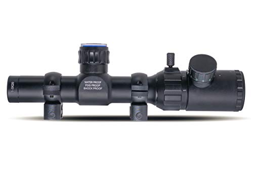 Monstrum Rifle Scope 4 Monstrum 1-3x20 Rifle Scope with Rangefinder Reticle with Scope Rings