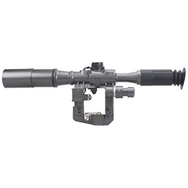 Vector Optics Rifle Scope 7 Vector Optics SVD Dragunov 4x24mm First Focal Plane (FFP) Tactical Riflescope with Red Illuminated Rangefinding Reticle