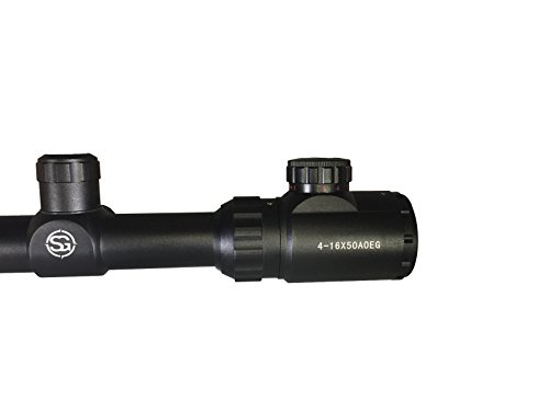 SG Sportsman's Gear Rifle Scope 3 SG Tactical 4-16X50AOEG Rifle Scope with Green Illuminated Crosshair and 50mm Objective Tube