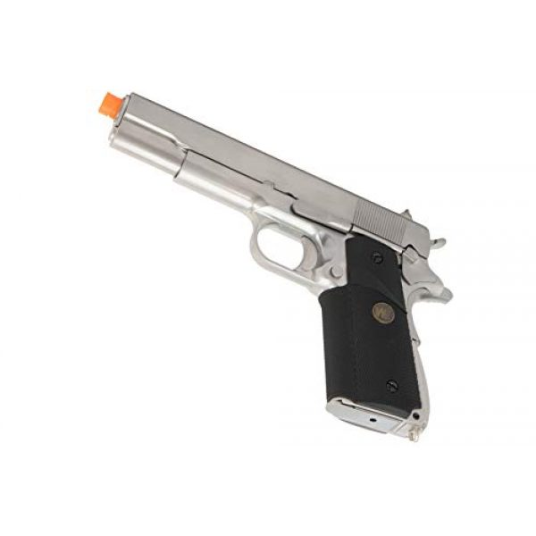 Lancer Tactical Airsoft Pistol 5 Lancer Tactical WE M1911 Full Metal MEU Gas Blowback Airsoft Pistol Silver Black