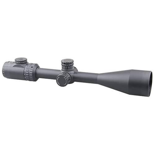 Vector Optics Rifle Scope 7 Vector Optics Hugo 6-24x50 Second Focal Plane (SFP) Riflescope with Illuminated Center Dot BDC Reticle, 25.4mm Tube, 1/4 MOA Per Adjustment, Turret Lock System, Free Mount Rings, Lens Caps, Sunshade