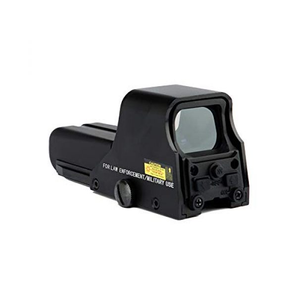 DJym Rifle Scope 1 DJym HD 1X Magnification Red Dot Sight, 22mm Rail Waterproof Shockproof Sight
