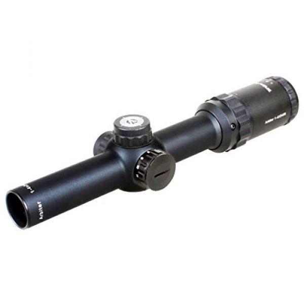 Vector Optics Rifle Scope 3 Vector Optics Arbiter 1-4x24mm, 1/2 MOA, Red Dot Illuminated Reticle Compact Tactical Second Focal Plane (SFP) Riflescope