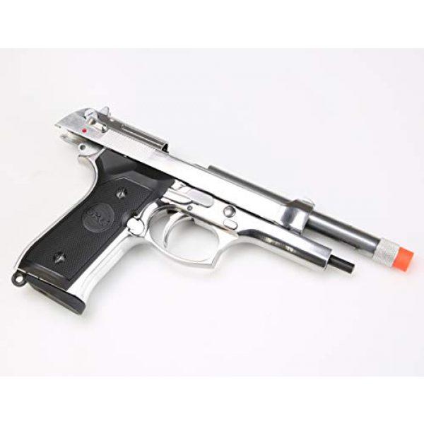BULLDOG AIRSOFT Airsoft Pistol 7 SR92 Co2 Blowback Silver Airsoft Pistol [Airsoft Blowback]