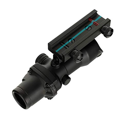 WINFREE Rifle Scope 5 WINFREE ohhunt 4x32 Hunting RifleScopes Green Etched Reticle Real Fiber Optics Tactical Optical Sights Scope
