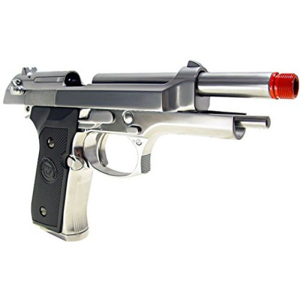 WE Airsoft Pistol 4 WE m92 gas/co2 blowback full metal - silver(Airsoft Gun)