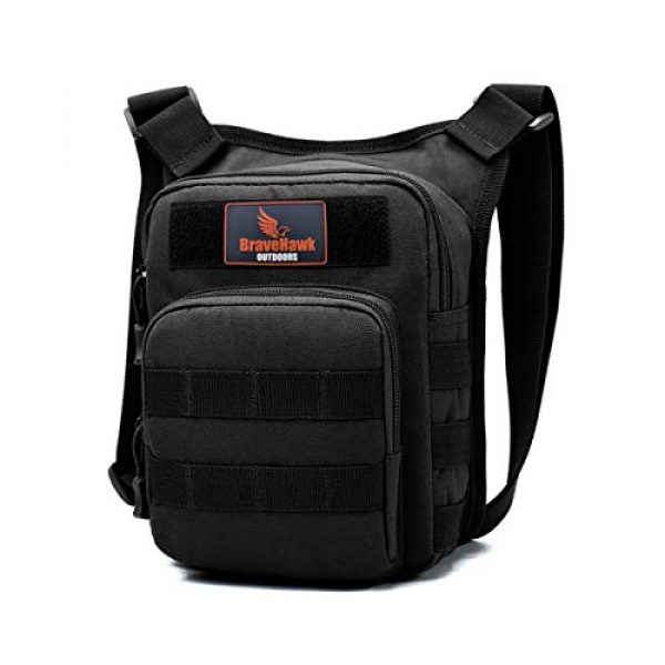 BraveHawk OUTDOORS Tactical Backpack 1 BraveHawk OUTDOORS Shoulder Messenger Bag, 800D Military Nylon Oxford Water Resistant EDC MOLLE Tactical Crossbody Pack Outdoor Daypack Organizer