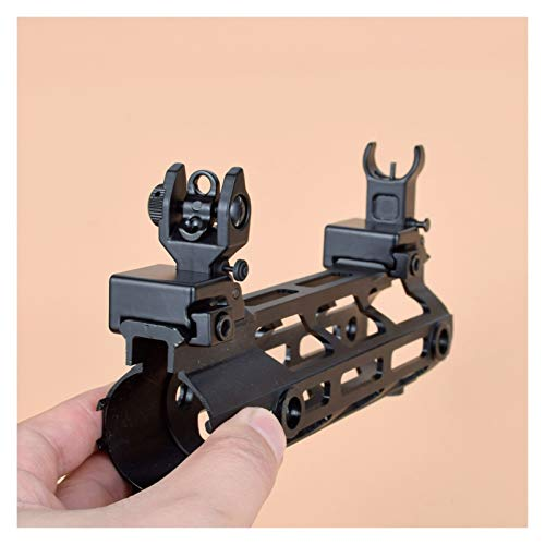 Without Rifle Scope 4 Toy Gun Sight Red dot Sight Magnification Hunting Iron Low flip preamplifier; Rear Sight Foldable Design Contour Quick Separation and Quick Transition Suitable for Most Guide Rails (Color : Black)