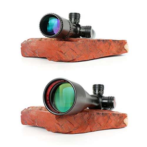 WSHA Rifle Scope 7 WSHA 6-24X50 First Focal Plane Rifle Scope - 30mm Hunting Sniper Optical Sight, Precision Shooting, Adjustable Objective