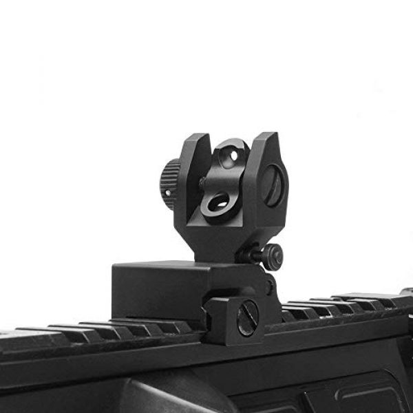 KTAIS Rifle Sight 3 KTAIS Flip up Front Rear Iron Sight Set Dual Half Moon Shape BUIS Sights fit 20mm Mount of Hunting Gun Rifle Airsoft Accessory (Color : Black)