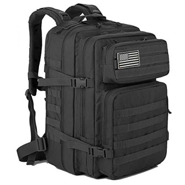 QT&QY Tactical Backpack 1 QT&QY 45L Military Tactical Backpacks Molle Army Assault Pack 3 Day Bug Out Bag Hiking Treeking Rucksack