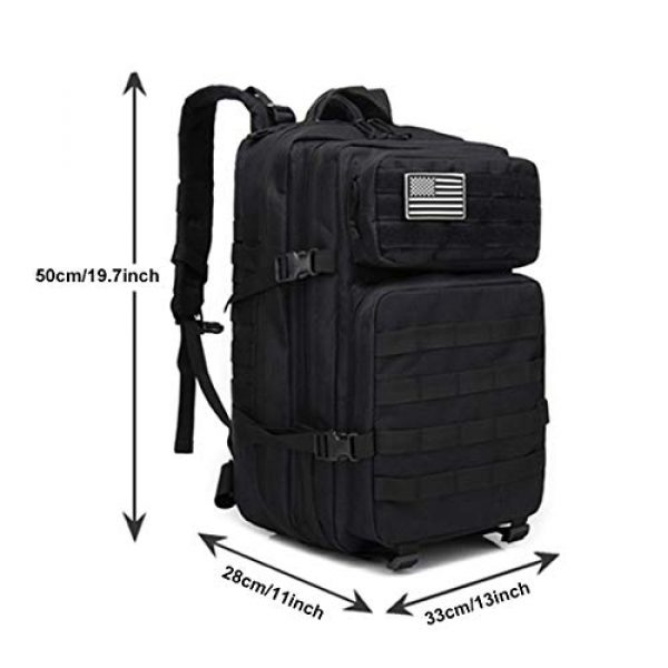 hopopower Tactical Backpack 2 hopopower Military Tactical Backpack Large Army 3 Day Assault Pack Molle Bag Backpack, 42L