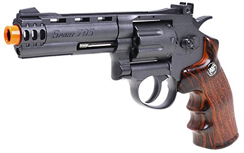 WG Airsoft Pistol 2 WG model-705 4 revolver co2 nbb w/nylon rotary drum & barrel(Airsoft Gun)