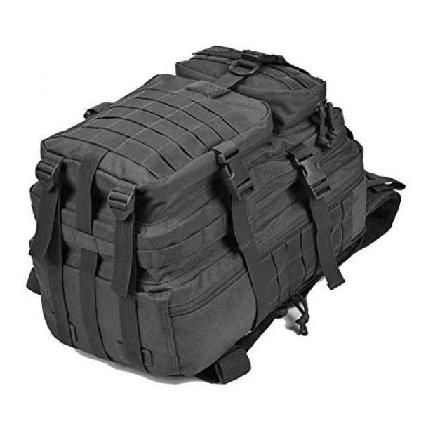 REEBOW GEAR Tactical Backpack 3 REEBOW G Military Tactical Backpack,Small Molle Assault Pack Army Bug Bag Backpacks Rucksack Daypack with Tactical US Flag Patch Black