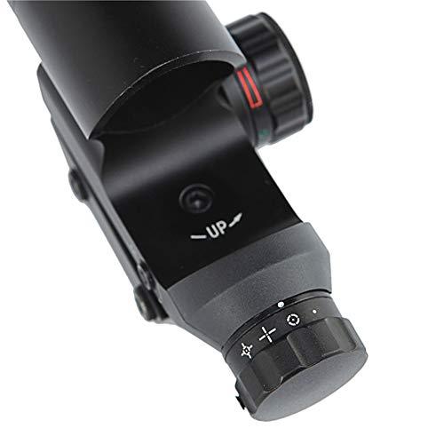 DJym Rifle Scope 4 DJym HD120 Shockproof Waterproof Red Dot Sight Riflescope (22MM Rail)