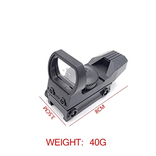 Without Rifle Sight 3 Toy Gun Sight Red dot Sight Magnification New Hunting Green Dot Sight Reflex Sight for Toy Gun Accessories Hunting Game Toy Track Scope Holographic Optical (Color : Black)