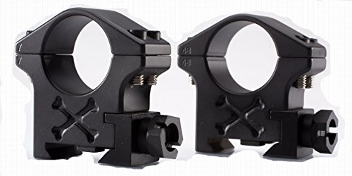 Talley Rifle Scope Ring 1 30mm Tactical Ring (Black Armor) (Extra High)