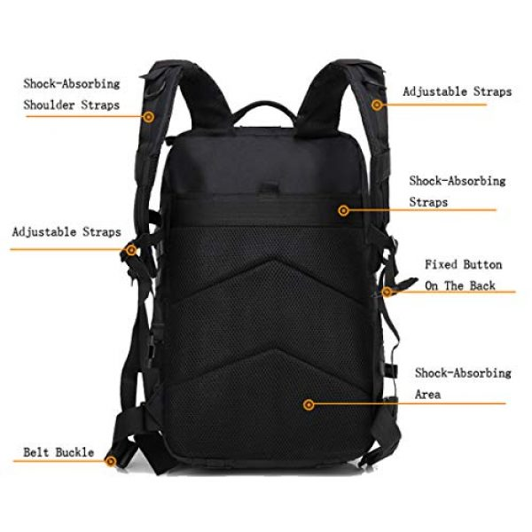 HAOMUK Tactical Backpack 4 HAOMUK Military Army Tactical Backpack Bag, Large 3 Day Assault Pack Army Molle Bag Backpacks Rucksack