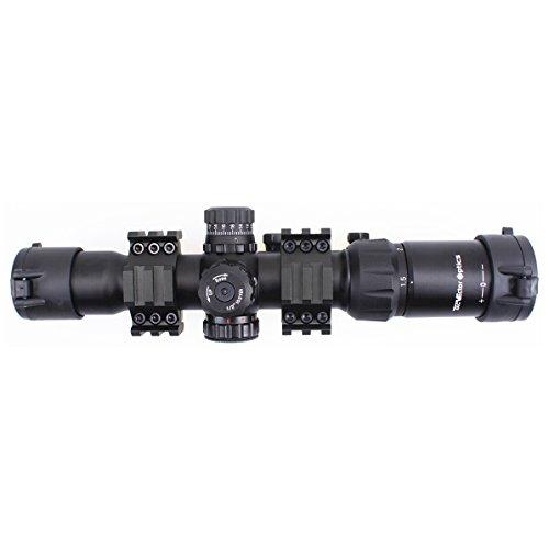 Vector Optics  3 Vector Optics 1.5-4x30mm 1/2 MOA Tactical Riflescope with Red