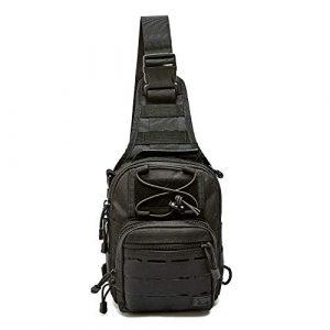 WOLF TACTICAL Tactical Backpack 1 WOLF TACTICAL Compact EDC Sling Bag - Concealed Carry Shoulder Bag for Range, Travel, Hiking, Outdoor Sports