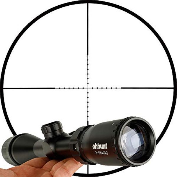 ohhunt Rifle Scope 4 ohhunt 3-9X40 AO Mil Dot Optics Rifle scopes with Scope Cover 20mm Picatinny Rings