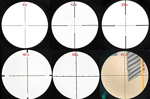 SECOZOOM Rifle Scope 4 SECOZOOM Optics ED Lens 4-50X75 Illuminated Riflescope First Front Focal Plane/FFP Glass-Etched Reticle 35mm Rifle Scope w 35mm Mount & 75mm Sunshade