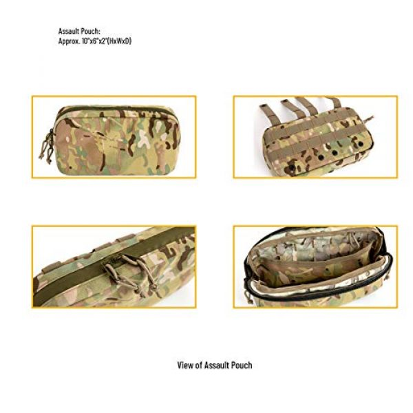 MT Tactical Backpack 5 MT Military FILBE Assault Pack with Assault Pouch, Army Tactical Rucksack Backpack Multicam