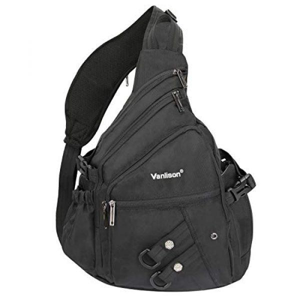 Vanlison Tactical Backpack 1 Vanlison Sling Backpacks, Sling Chest Bags Shoulder Crossbody Bags for Men Women Outdoor Travel Walking Dog Running