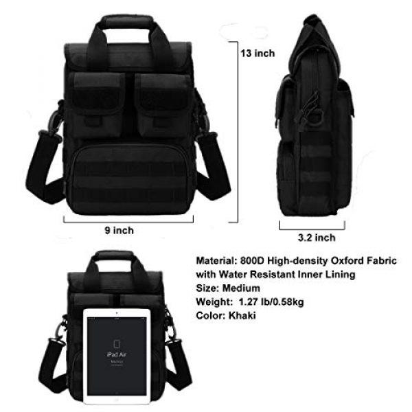 BraveHawk OUTDOORS Tactical Backpack 6 BraveHawk OUTDOORS Tactical Briefcase Messenger Bag, 800D Military Nylon Oxford Laptop Crossbody Shoulder Bag Handbag Daypack