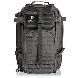 Savage Cut Tactical Backpack 1 Savage Cut Waterproof Tactical Bag - Military Laser Cut, Heavy Duty Survival Backpack (Black)