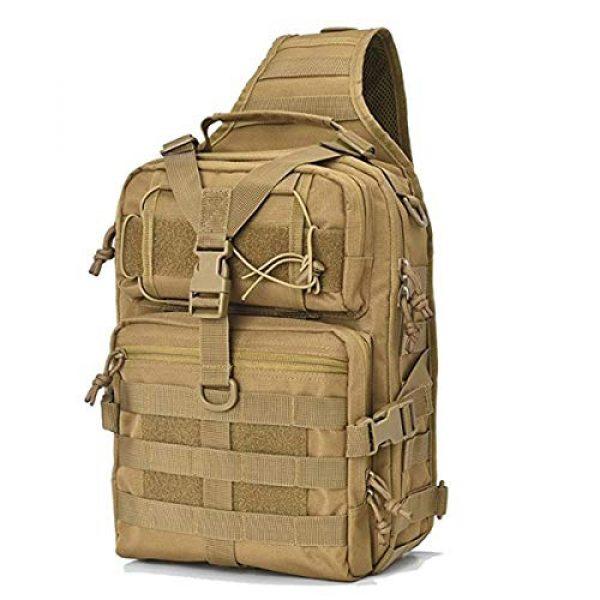 GUGULUZA Tactical Backpack 1 GUGULUZA Tactical Sling Bag,EDC Shoulder Backpack, Crossbody Molle Assault Range Bag for Hunting Camping Trekking