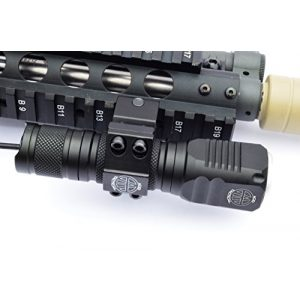 Acid Tactical Flashlight 1 Acid Tactical Compact LED Rifle Shotgun Flashlight 800 Lumens with Picatinny Mount, Battery, Pressure Switch kit