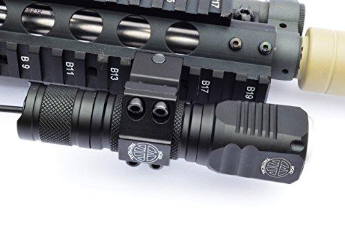Acid Tactical Flashlight 1 Acid Tactical Compact LED Rifle Shotgun Flashlight 800 Lumens with Picatinny Mount, Battery, Pressure Switch kit