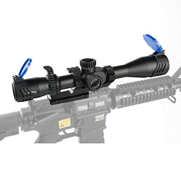 Sniper Rifle Scope 7 Sniper ZT 4.5-18x44 FFP Scope Side Parallax Adjustment Glass Etched Reticle Red Green Illuminated with Scope Mount