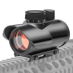 AJDGL Rifle Scope 1 AJDGL Tactical Red Dot Sight Scope- 1x30mm Holographic Optics Hunting Scopes for 11mm/20mm Rail