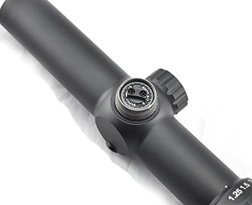 Visionking Rifle Scope 5 Visionking Rifle Scope 1.25-5x26 Mil-dot Rifle Scope Riflescope for Black