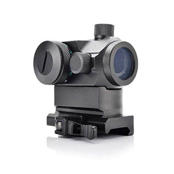 KTAIS Rifle Scope 5 KTAIS Tactical Hunting QD 1X22 Reflex Red&Green Dot Scope Sight with Quick Riser Mount Quick Detach Holographic Collimator Dot Scopes (Color : Black)