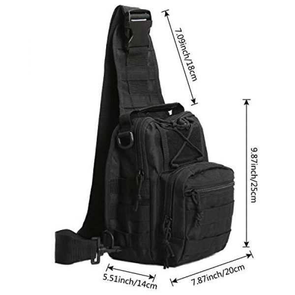 FengJu Tactical Backpack 3 Tactical Molle Military Shoulder Bag, Sling Shoulder Messenger Chest Pack for iPad or Gear Transport While Cycling, Hiking or Daily Use