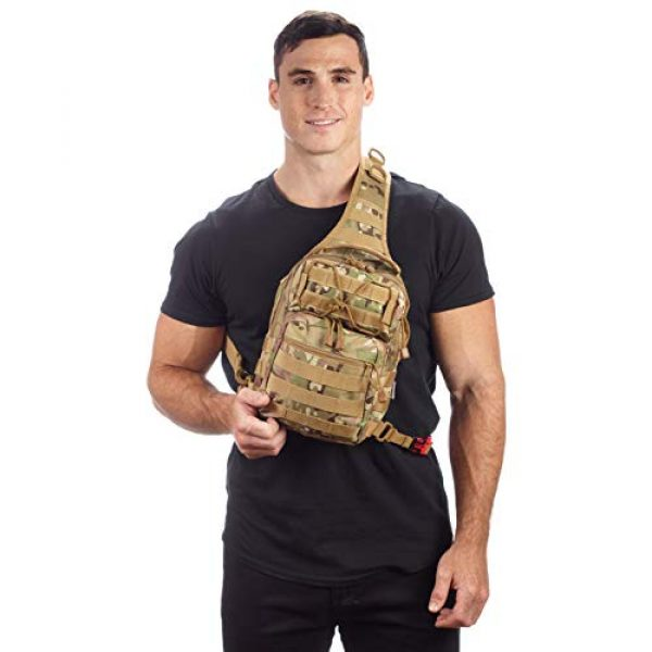 EverTac Tactical Backpack 6 Small Tactical Shoulder Sling Pack w/Molle EDC (CP MultiCam)