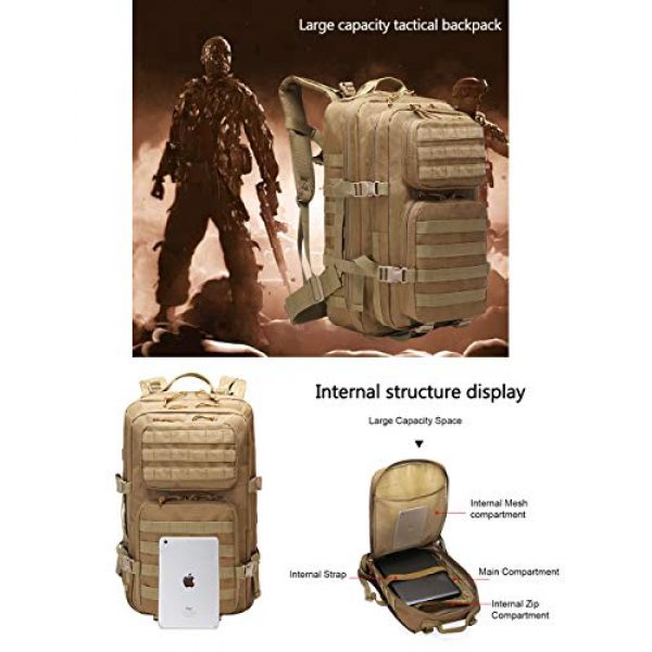 Suoki Tactical Backpack 7 Suoki 45L Molle Rucksack Outdoor Bug Out Bag Hiking Camping Backpack for Men Women