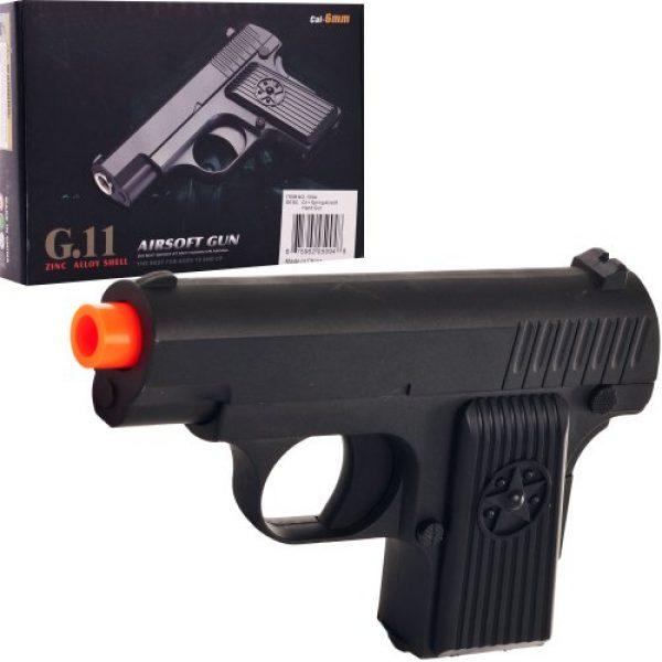 Whetstone Airsoft Pistol 3 Whetstone G.11 Zinc Alloy Shell Airsoft Pistol, Black
