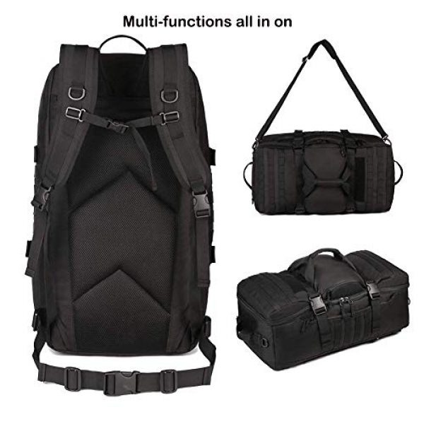 CREATOR Tactical Backpack 2 CREATOR 60L Tactical Backpack Molle Travel Luggage Bags Camping Daypack Duffle Bag