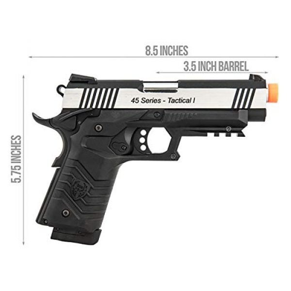 HFC Airsoft Pistol 6 HFC HG-171 Tactical 1911 CO2 Blowback Airsoft Pistol Black Silver