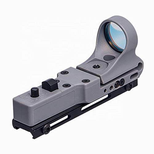 UELEGANS Rifle Scope 3 UELEGANS Tactical Red Dot Sight Reflex Sight 9 Brightness Control (Red dot) Red Illumination Scope for Hunting, Gray