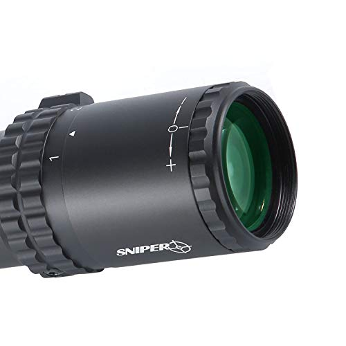 Sniper Rifle Scope 7 Sniper VT 1-6X28 FFP First Focal Plane (FFP) CQB Scope 35mm Tube ED Optics System with Red/Green Illuminated Reticle Fit .223 5.56