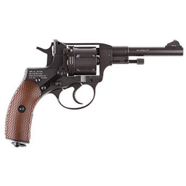 Nagant Air Pistol 2 Nagant Gletcher NGT F CO2 BB Revolver, Black air pistol