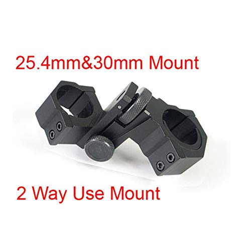 Without Rifle Scope 2 Toy Gun Sight Red dot Sight Magnification Laser Sight Scope Aiming Mount Adjustable Elevation 25.4mm amp; 30mm Diameter (Color : Black)