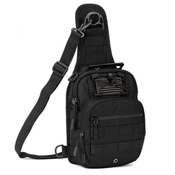 IDOGEAR SPORTS Tactical Backpack 1 IDOGEAR Tactical Sling Bag Pack Small EDC Molle Assault Military Army Shoulder Backpack